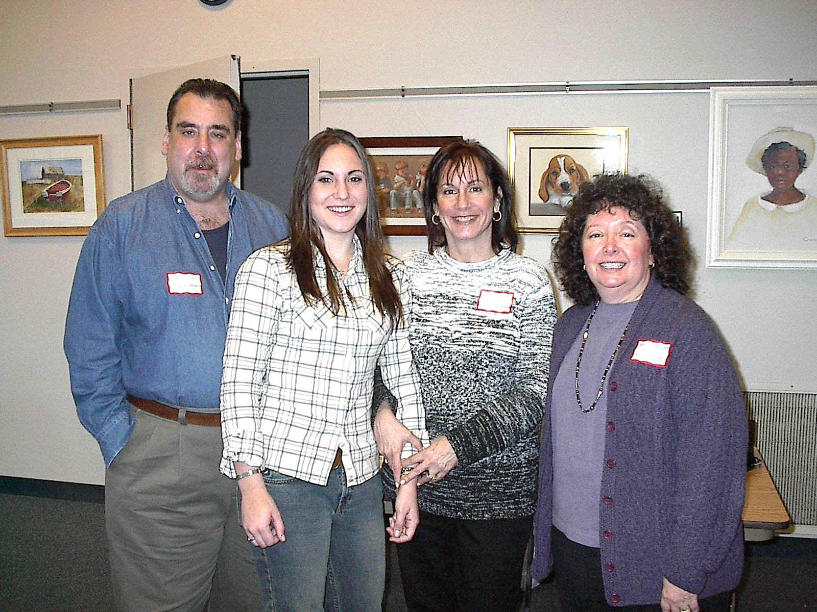 Dave, Rita and Ilene Lewis with Nancy Conn-Levin (500647 bytes)